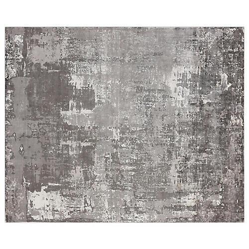 Gray Waters Rug, Gray/Ivory