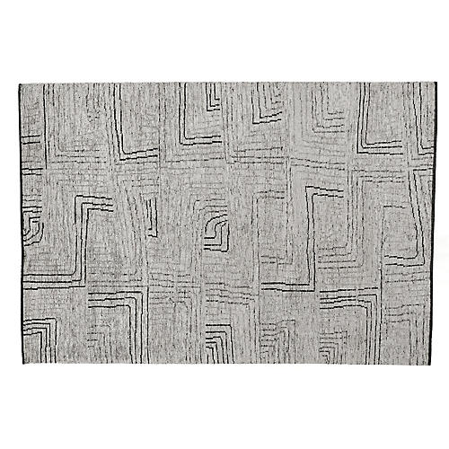 Inza Hand-Knotted Rug, Ivory