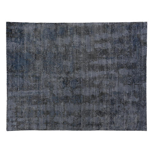 Milin Hand-Knotted Rug, Dark Blue