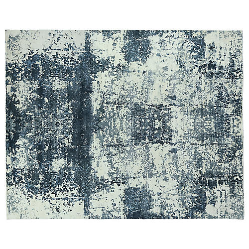Lemint Hand-Knotted Rug, Blue