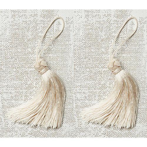 S/2 Gigi Key Tassels, Ivory