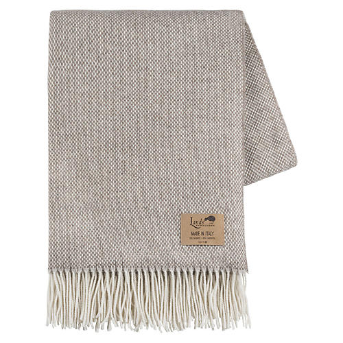 Juno Cashmere-Blend Throw, Taupe