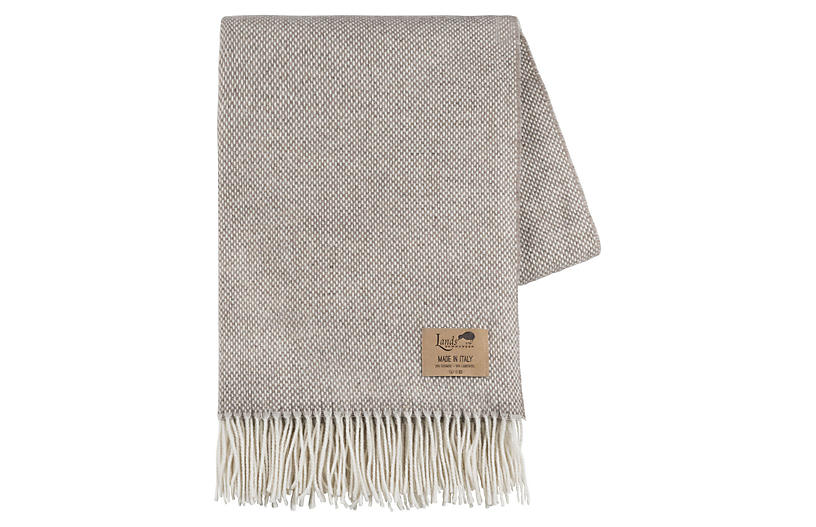 Juno Cashmere Blend Throw, Taupe