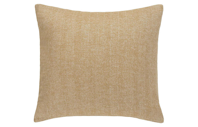 Herringbone 20x20 Pillow, Caramel
