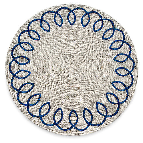Chinoiserie Place Mat, Blue/White