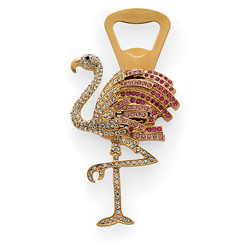 Flamingo Bottle Opener, Gold/Pink