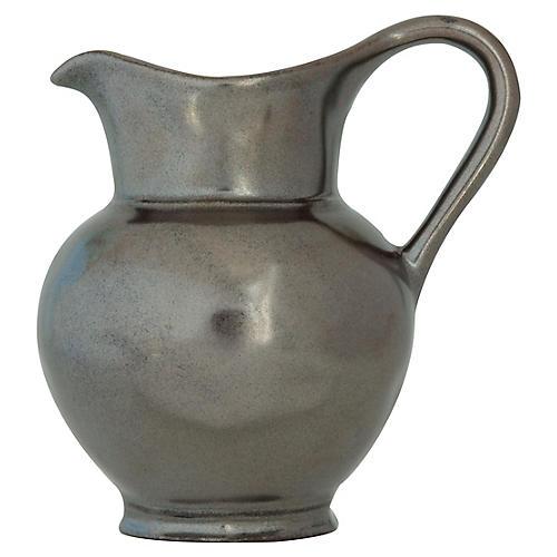 Stoneware Creamer, Pewter