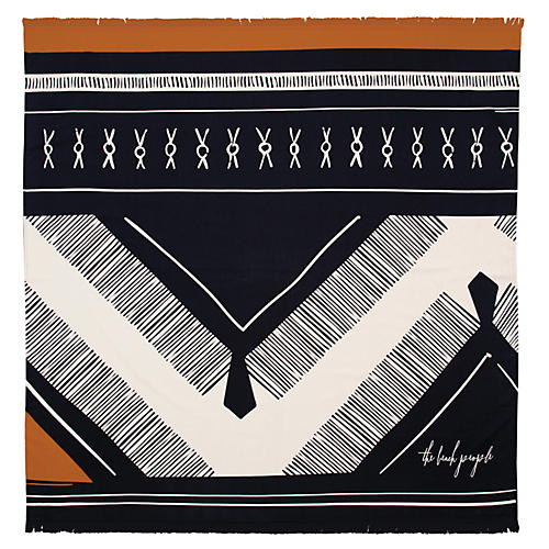 Dreamer Beach Towel, Navy/Multi