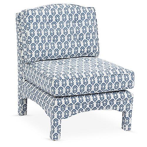Julien Tufted Slipper Chair, Jasmine