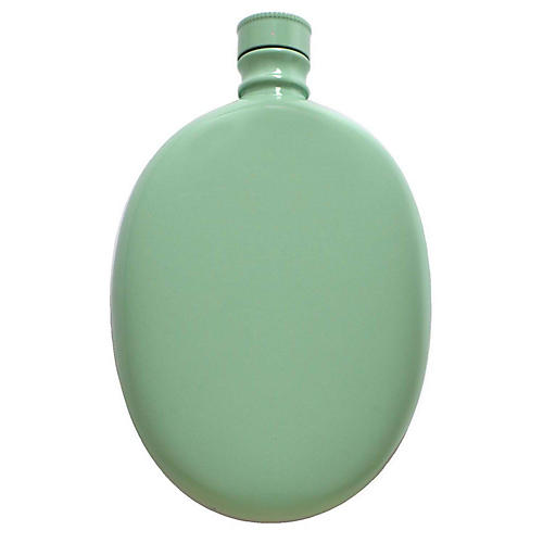 Smith Oval Flask, Aqua
