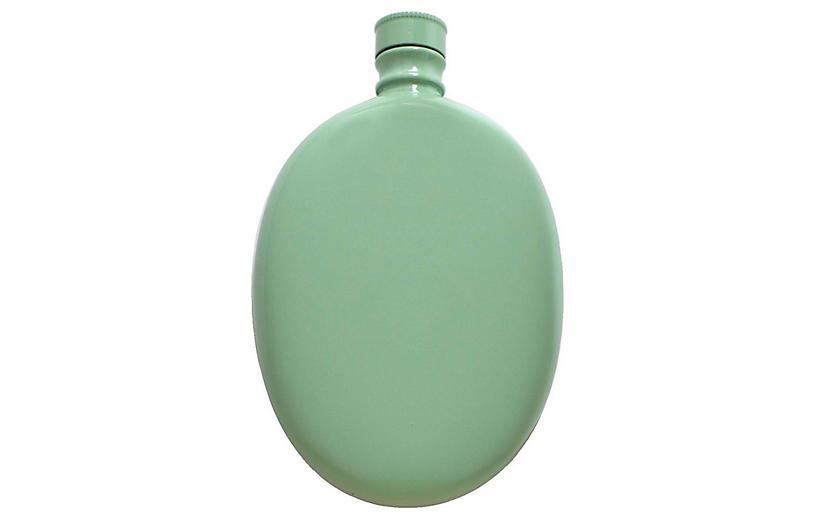 Smith Oval Flask, Aqua