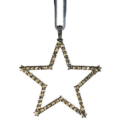 Star Ornament, Hematite/Gold