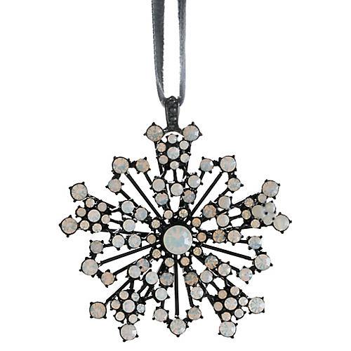 Snowflake Ornament, Black/Opal