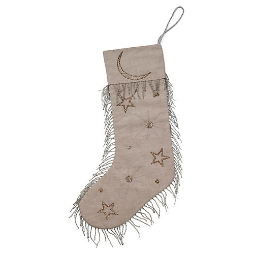 Celestial Stocking, Tan/Multi