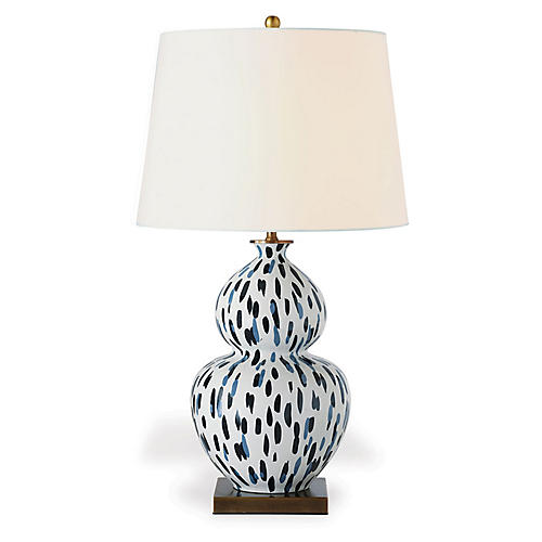 Mill Reef Table Lamp, Indigo/Multi