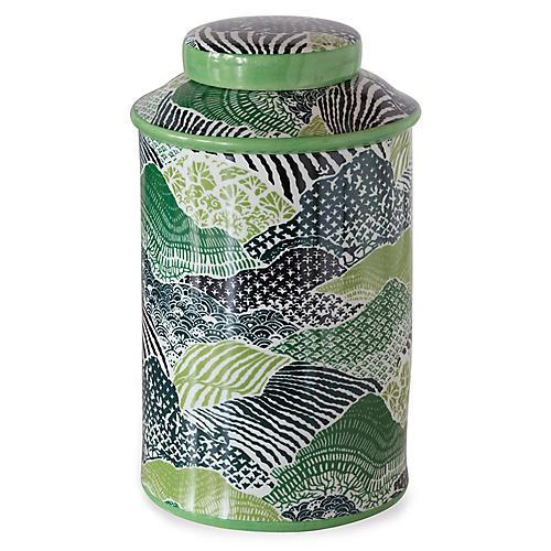 """15"""" Windsor Park Jar, Green"""
