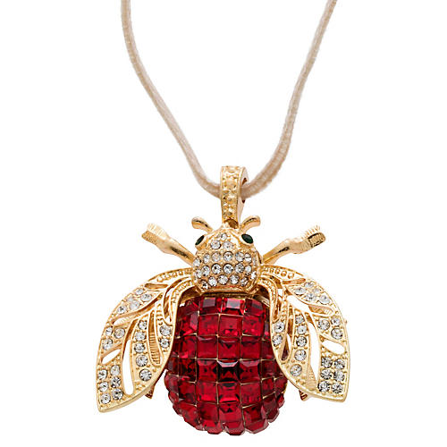 Sparkle Bee Ornament, Ruby