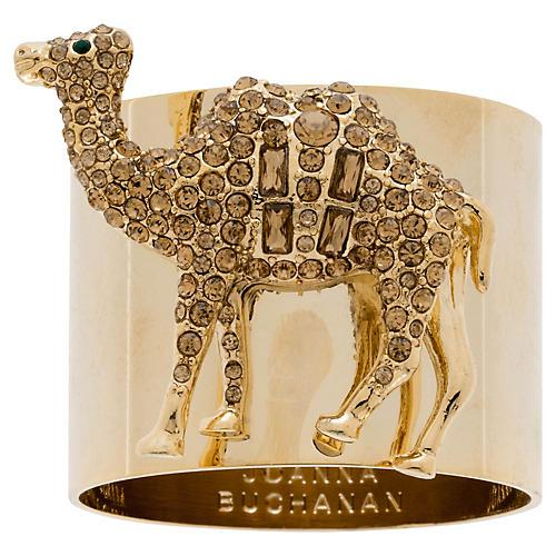 S/2 Camel Napkin Rings, Topaz