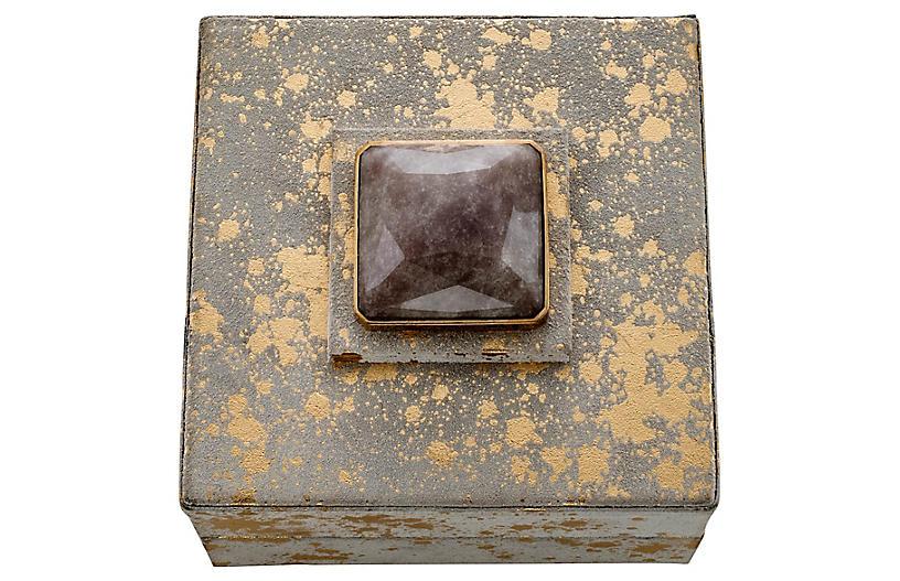 Rustic Quartz Jewelry Box - Gray/Gold - Joanna Buchanan