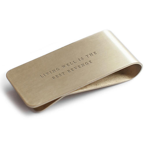 Living Well Steel Money Clip, Gold
