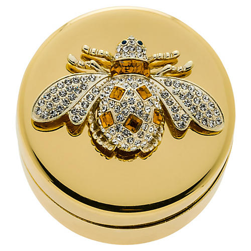Bee Jewelry Box, Gold/Amber