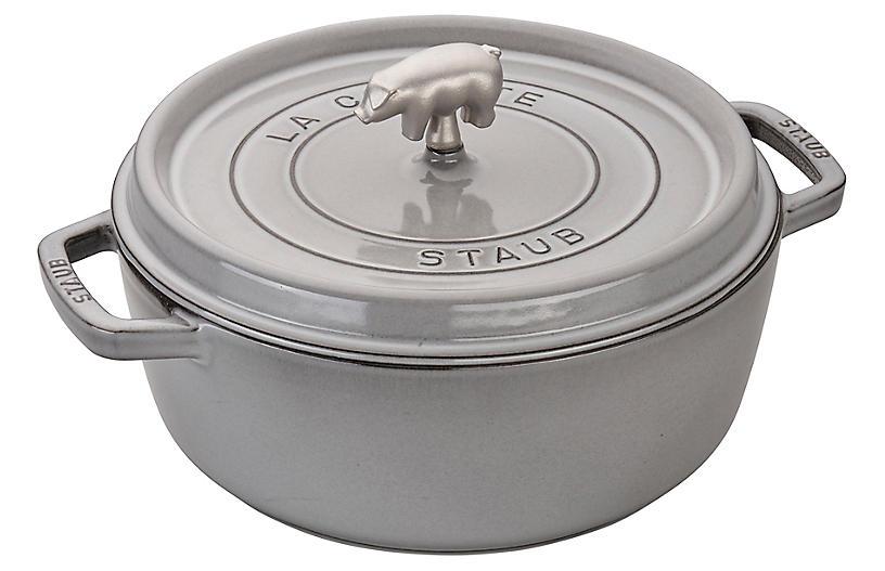 6-Qt Cochon Shallow Wide Cocotte, Graphite