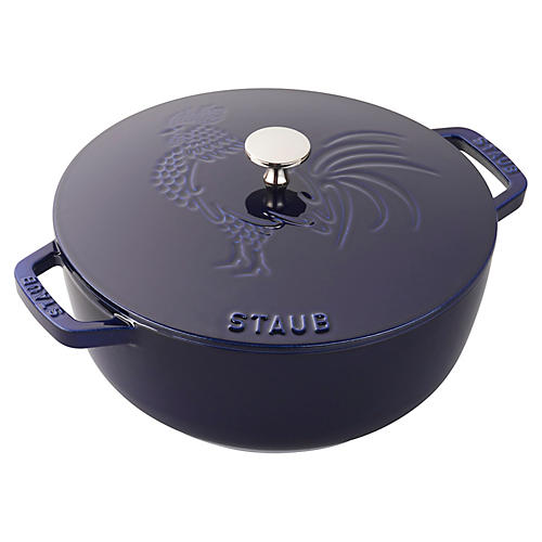 3.75-qt Essential French Oven Rooster, Navy
