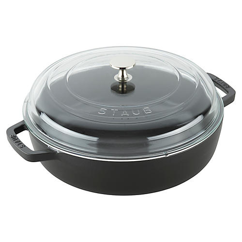 4-Qt Universal Deluxe Pan, Matte Black
