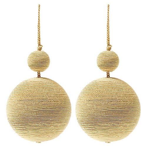 S/2 Donner Double Ball Ornaments, Gold