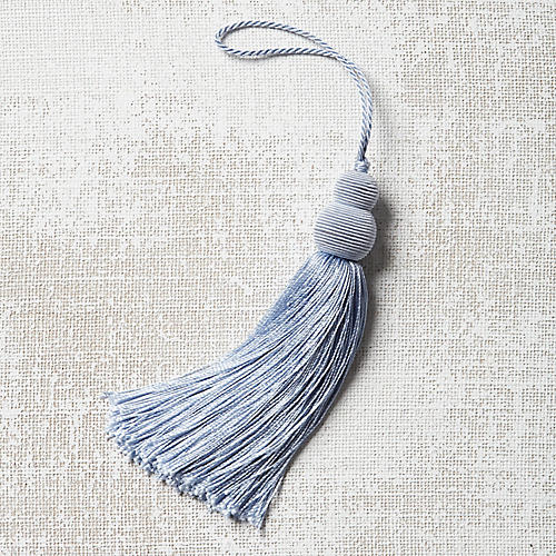 Pom-Pom Key Tassel, Light Blue