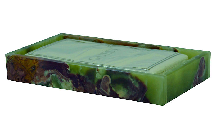 Vinca Guest Towel Tray, Whirl Green Onyx
