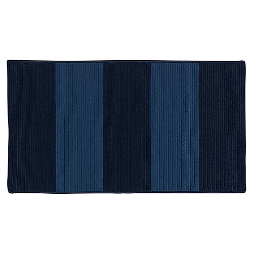 Darien Outdoor Rug, Blue/Navy