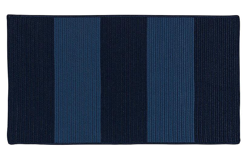 Darien Outdoor Rug, Blue/Navy