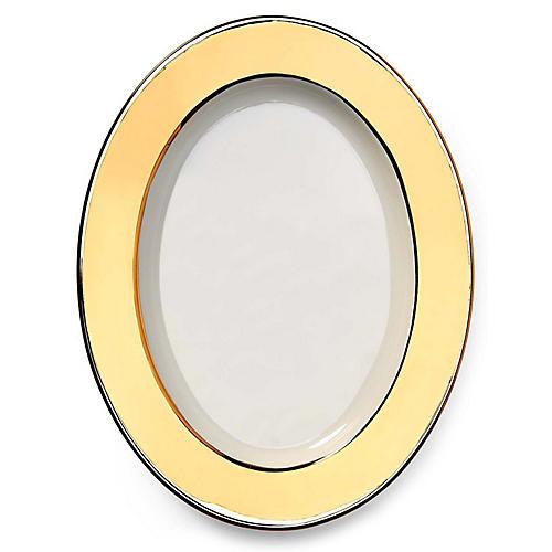 Somerville Oval Platter, Gold