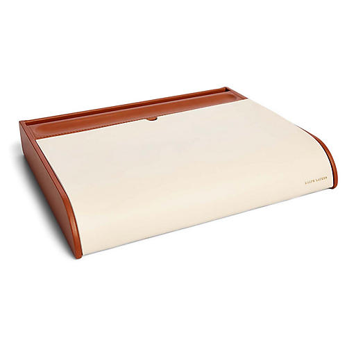 "12"" Ryan Desk Valet, Cream/Saddle"