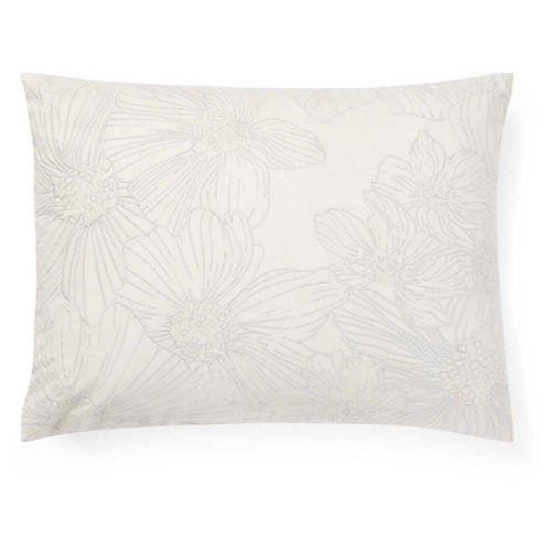 Allaire 15x20 Embroidered Pillow, Cream