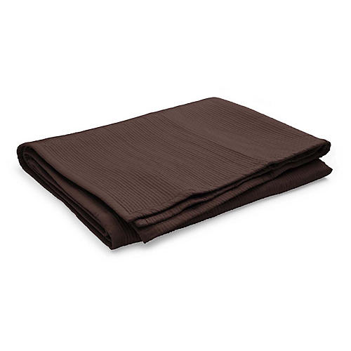 Spencer Matelassé Coverlet, Dark Chocolate