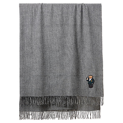 Bartley Holiday Wool Throw, Black/White