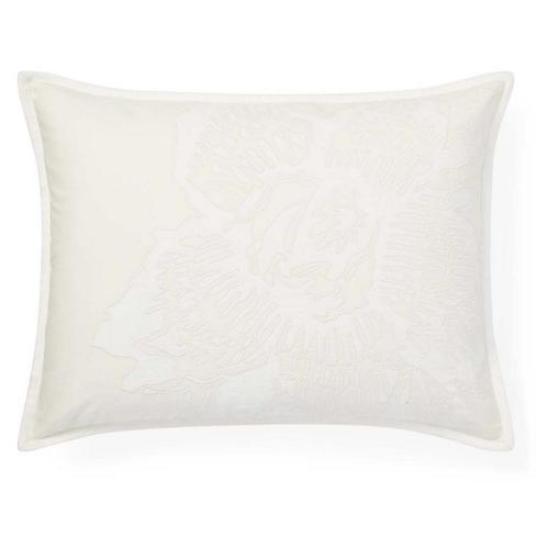 Lucie 15x20 Abstract Appliqué Pillow, Cream/Multi
