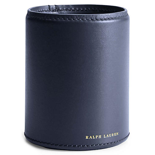 Brennan Leather Pencil Cup, Navy