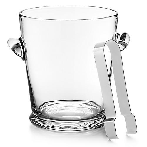 Ethan Ice Bucket w/ Tongs, Clear