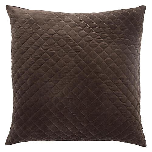 Spi 22x22 Pillow, Brown Velvet