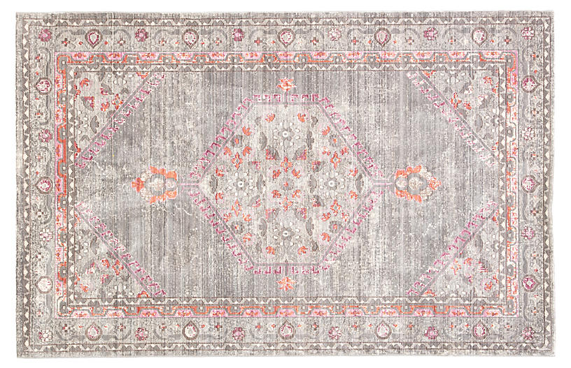 Lafontaine Rug, Gray/Pink