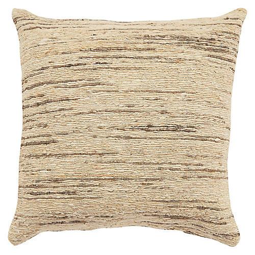 Heb 22x22 Pillow, Beige/Gray