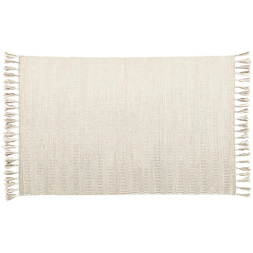Henderson Flat-Weave Rug, Ivory/Light Gray