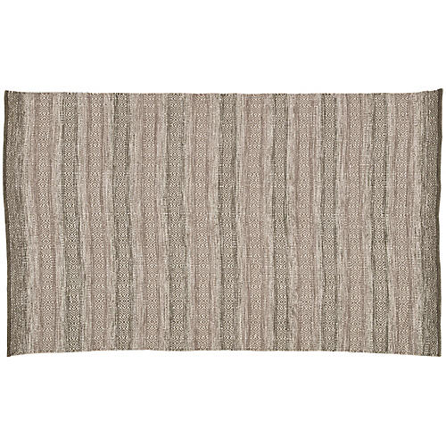 Malen Outdoor Rug, Taupe/Green