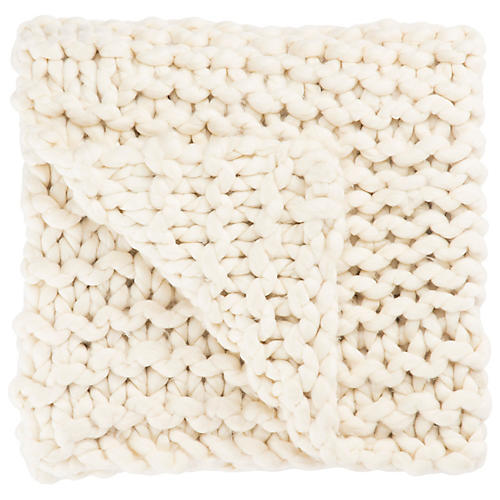 Yaya Acrylic Throw, Ivory