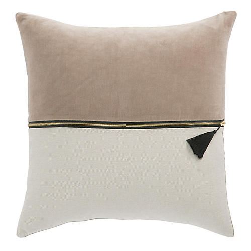 Kurt 22x22 Pillow, Pink/Ivory