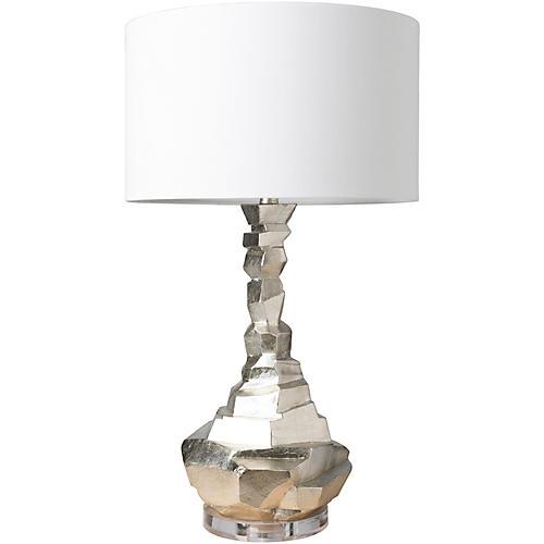 Wayne Table Lamp, Silver