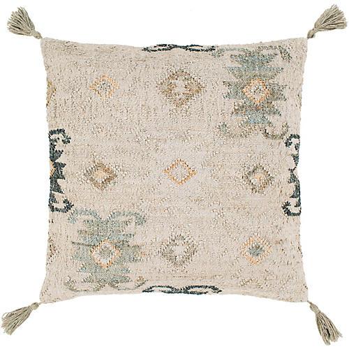 Sage 20x20 Pillow, Khaki/Green